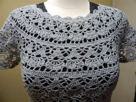 blusa tejida a crochet para verano parte 1 de 2 blusa gris crochet parte 1 de 2 viyoutube