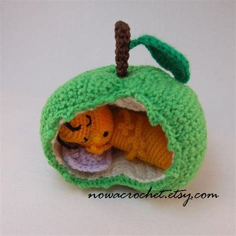 amigurumi apple pattern sleeping apple worm amigurumi pdf crochet pattern