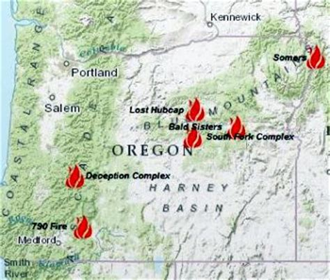 map of oregon forest fires six forest fires in oregon still raging salem news
