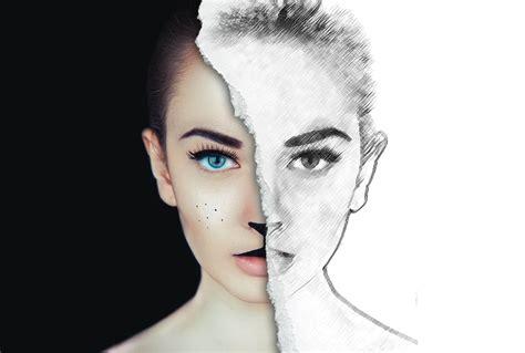tutorial photoshop sketch half sketch effect photoshop tutorial
