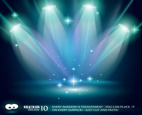 Set Of Stage With Spotlight Vector Background 03 Over Millions Vectors Stock Photos Hd Spotlight Powerpoint Template