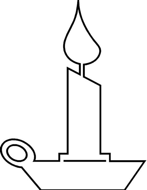 Baptismal Candle Outline by Candle Outline Images Clipart Best