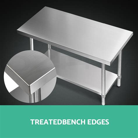 stainless steel bench top 1219x610mm commercial 430 stainless steel kitchen work
