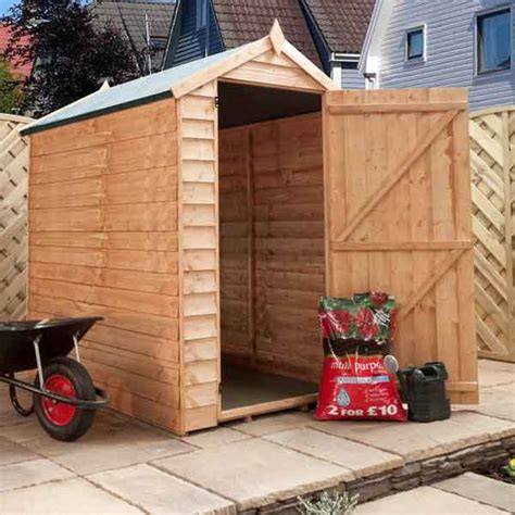 6 By 4 Wooden Sheds 6x4 Garden Shed Single Door Apex Windowless Wooden Sheds