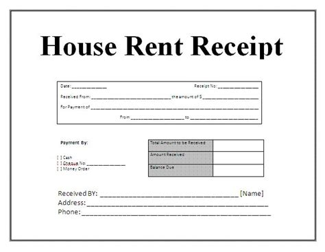 Hra Rent Letter Free House Rental Invoice Receipt Template Invoice Receipt Template