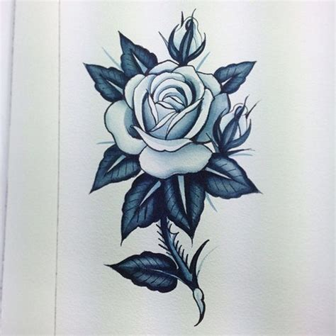 rose with thorns tattoo stem design best designs