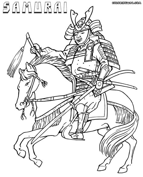 free coloring samurai coloring pages
