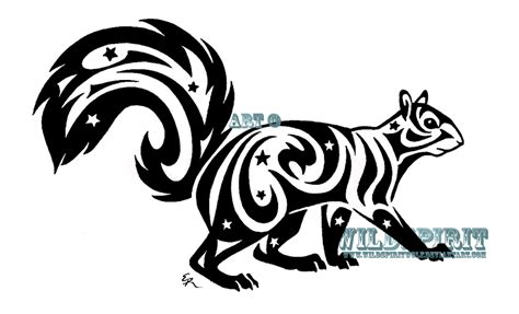 tribal raccoon tattoo starry tribal squirrel by wildspiritwolf on deviantart