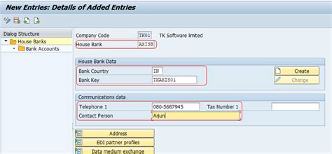 inhouse bank how to define house bank in sap account id in sap sap