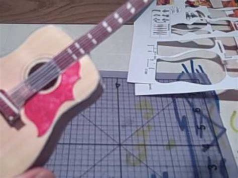 How To Make A Paper Guitar Model - paper guitar model