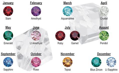 birthstone colors inspirational beading swarovski birthstones and necklace