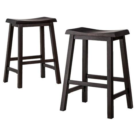 saddle bar stools target threshold 24 quot trenton counter stool black set of 2
