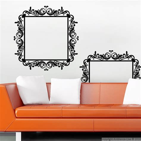 baroque wall stickers baroque wall decals wall decal baroque on a frame