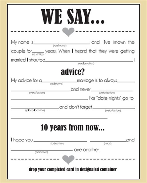 marriage advice cards templates wedding advice cards lilbibby