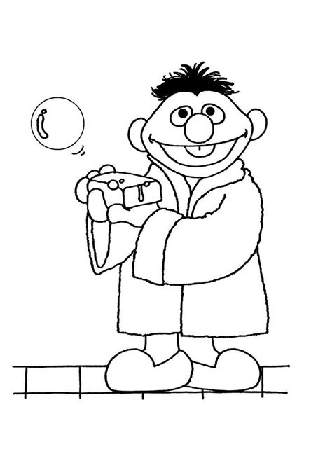 ernie coloring pages sketch coloring page