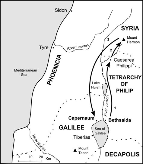 caesarea philippi map the bible journey who is jesus
