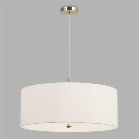 large white fabric drum  light billie pendant lamp