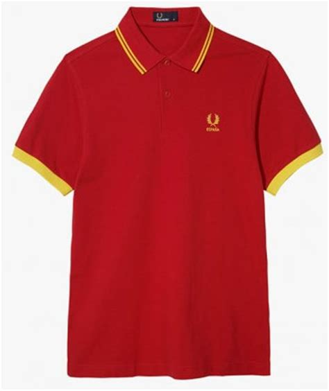 Polo Spain World Cup Team Ordinal Apparel fred perry 2014 world cup polo shirt spain