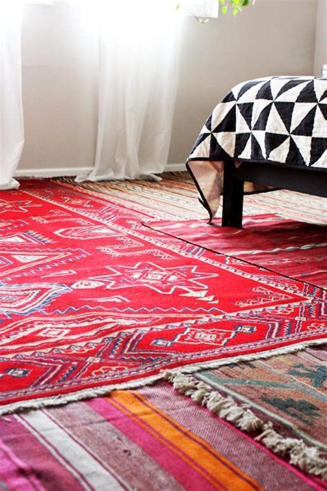 Layering Area Rugs Awesome Idea For Layering Rugs To Conceal Carpet In A Bedroom Bedroom Awesome