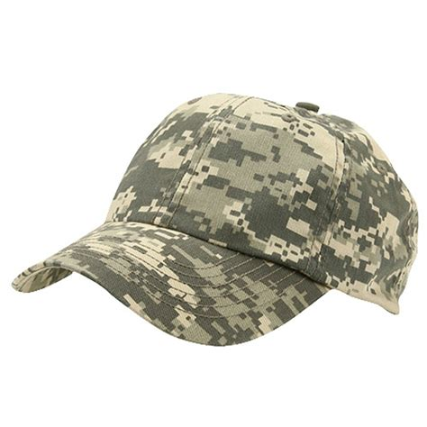 digital camouflage enzyme washed camo cap designed