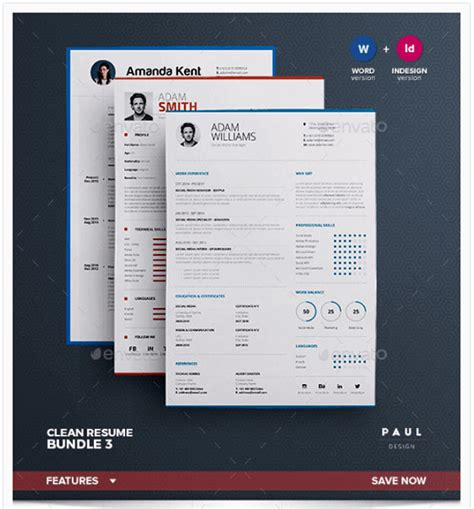 3 Cv Resume Indesign Templates Clean by Top 11 Professional Resume Templates For The