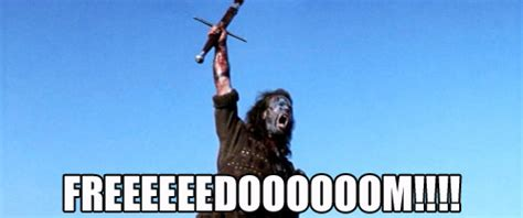 Braveheart Freedom Meme - scottish independence 39 yes 39 vote means leaving pound
