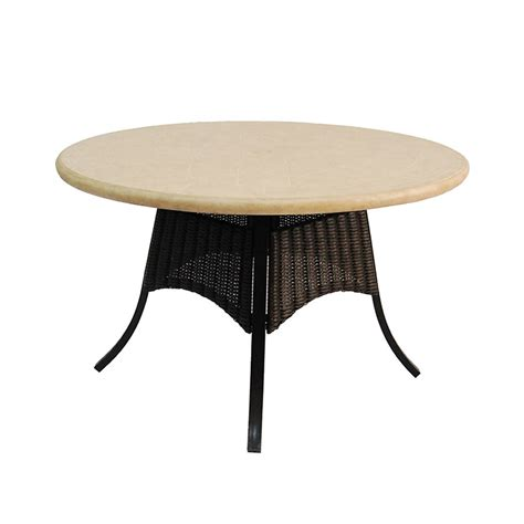 Patio Dining Tables Only Shop Allen Roth Pardini Composite Material Top Rubbed Bronze Patio Dining Table At
