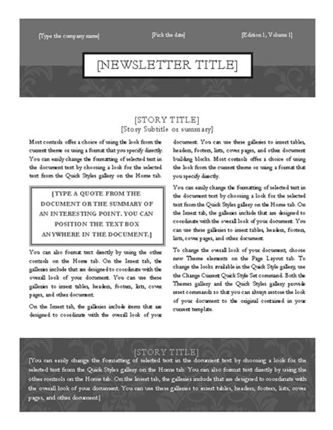 simple elegant two column newsletter template