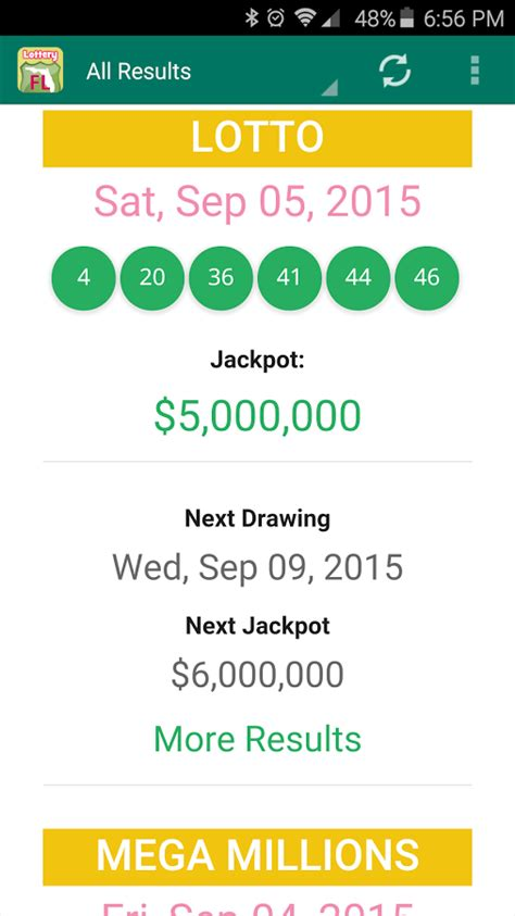 Fl Mega Money Winning Numbers - florida lottery results android apps on google play
