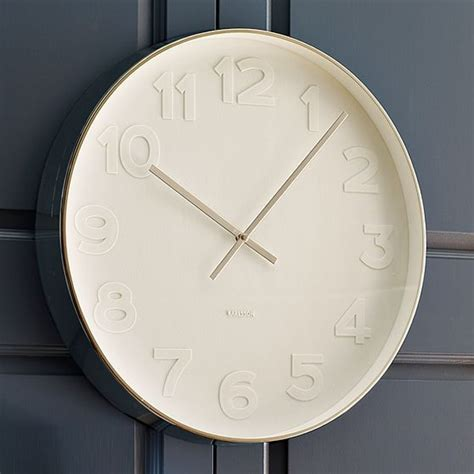 modern white wall clock new oversize white wall clock modern clocks by west elm