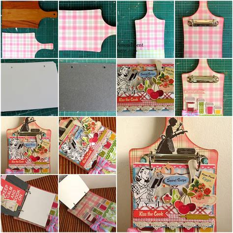 Handmade Crafts Tutorials - how to make creative handmade cookbook step by step diy