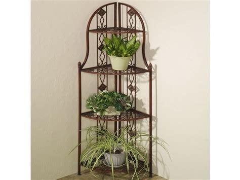 Frascati Metal Corner 3 Tier Plant Stands Home Decor Indoor Plant Shelves