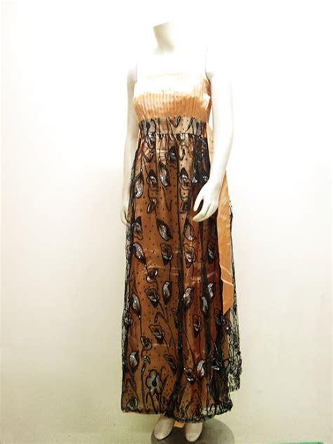 Dress Gaun Pesta Maxi Marun beautiful fashion gaun maxi tafeta import lc 3615