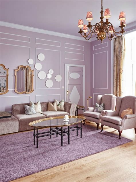 or modern lilac in contemporary interior design
