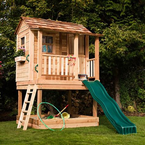 outside playhouse plans playhouses hayneedle