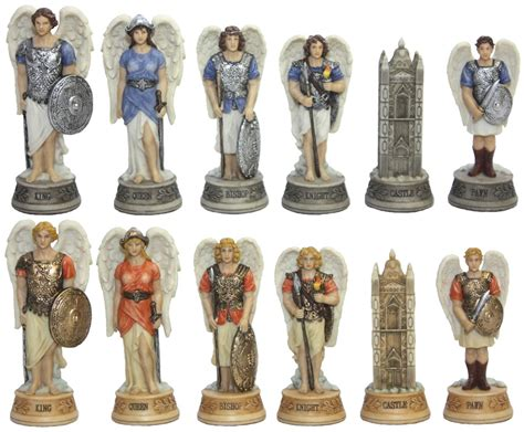 chess set designs chess set pieces heavenly archangels nib ebay