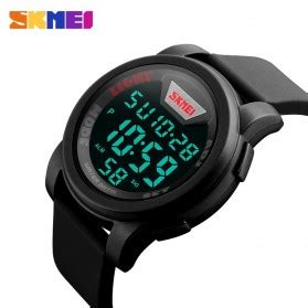 Skmei Trendy Led Dg1218 skmei jam tangan trendy digital pria dg1218 black
