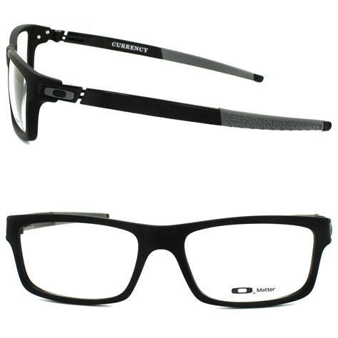 Kacamata Original Frame Oakley Currency Satin Black oakley glasses frames currency 8026 13 satin black grey 54mm ebay