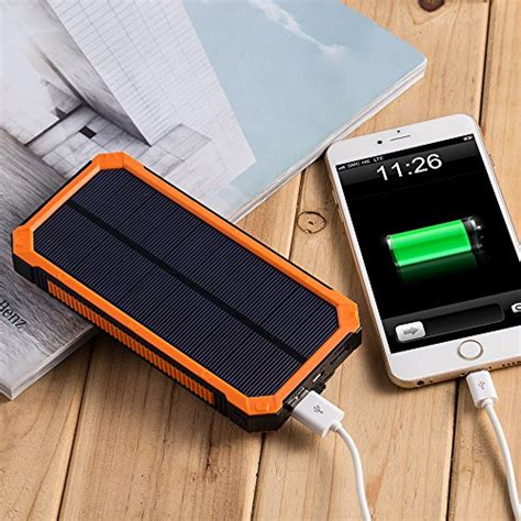 Power Bank Solar Cell 15000mah solar charger with 6led flashlight 15000mah solar power bank dual usb external battery charger