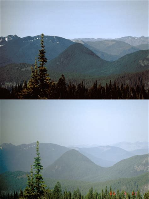 air quality mount rainier national park  national