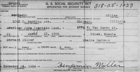 Nevada Collecting Social Security On Application Benjamin Miller Family Melamed Family History