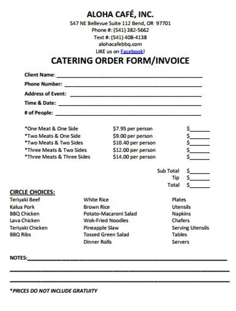 30 Best Catering Invoice Templates Images On Pinterest Free Stencils Templates Free And Free Printable Catering Invoice Template