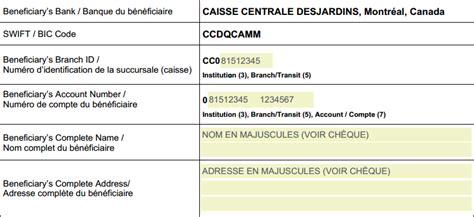 Banc En Anglais Traduction by Comment Recevoir Un Transfert De Fonds Chez Desjardins