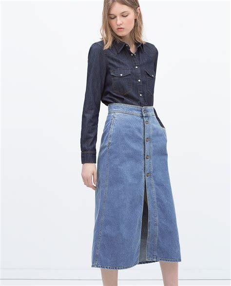 how to wear a denim skirt moderosa