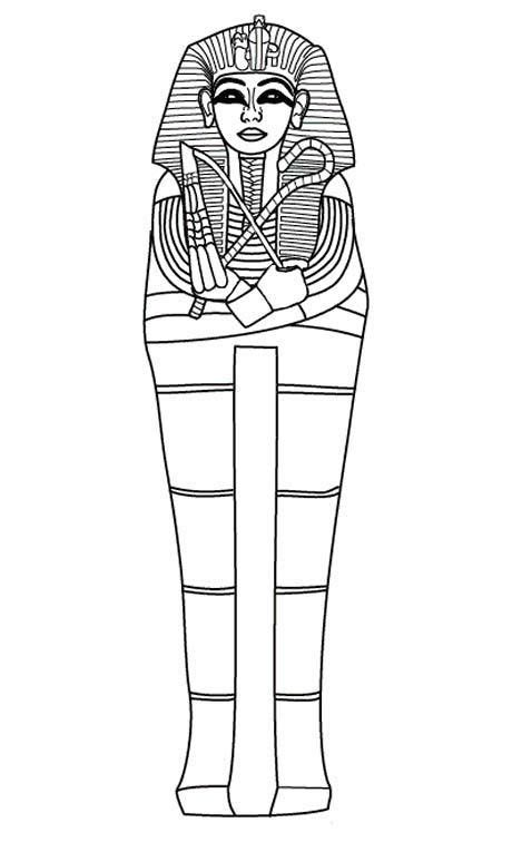 head of king tut pages coloring pages