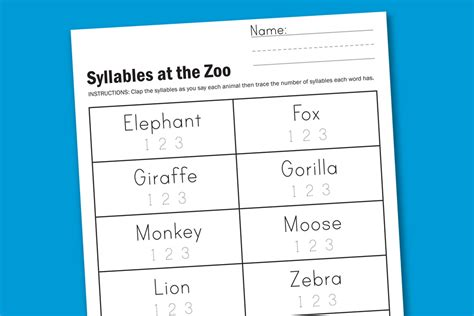 Syllables Worksheets by Worksheet Wednesday Zoo Syllables Paging Supermom