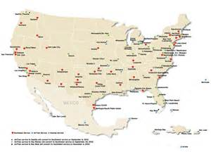us airports of entry map southwest introduces colorado one world airline news