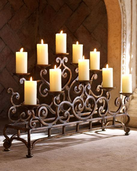 fireplace candles ambella fireplace candelabrum