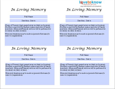obituary guide template 21 free obituary templates sles and guides