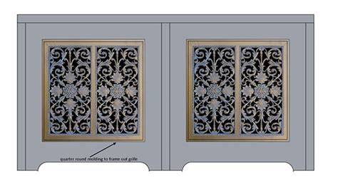 decorative grilles for cabinets pictures to pin on